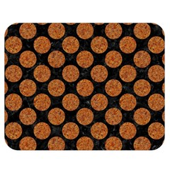 Circles2 Black Marble & Rusted Metal (r) Double Sided Flano Blanket (medium)