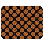 CIRCLES2 BLACK MARBLE & RUSTED METAL (R) Double Sided Flano Blanket (Medium)  60 x50 Blanket Back