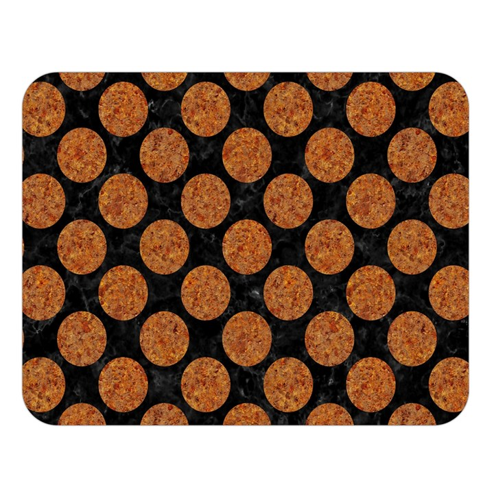 CIRCLES2 BLACK MARBLE & RUSTED METAL (R) Double Sided Flano Blanket (Large)
