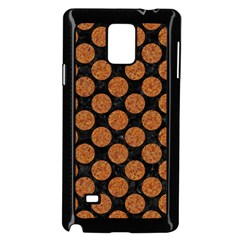Circles2 Black Marble & Rusted Metal (r) Samsung Galaxy Note 4 Case (black)