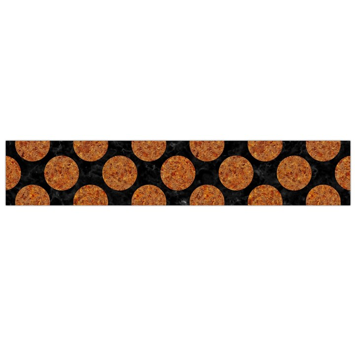CIRCLES2 BLACK MARBLE & RUSTED METAL (R) Flano Scarf (Large)
