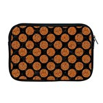 CIRCLES2 BLACK MARBLE & RUSTED METAL (R) Apple MacBook Pro 17  Zipper Case Front