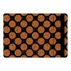 Circles2 Black Marble & Rusted Metal (r) Apple Ipad Pro 10 5   Flip Case