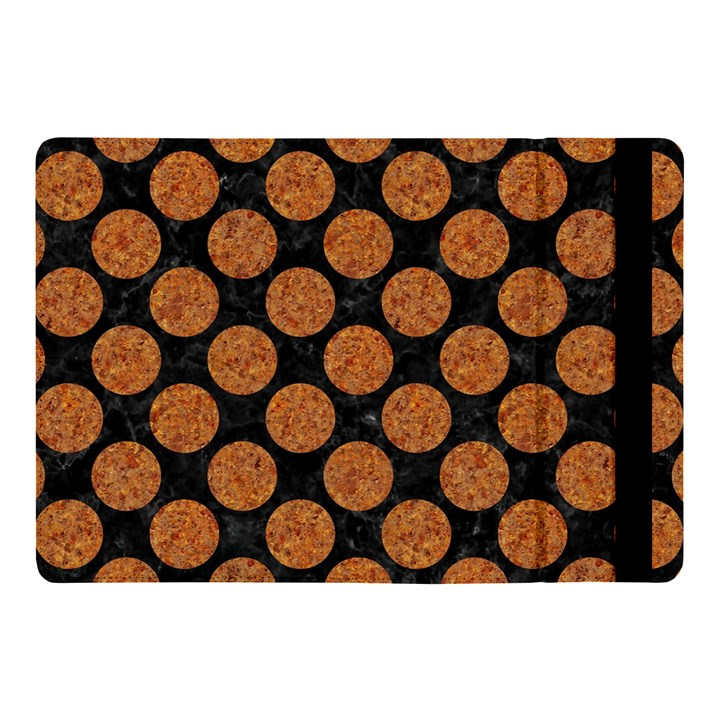 CIRCLES2 BLACK MARBLE & RUSTED METAL (R) Apple iPad Pro 10.5   Flip Case