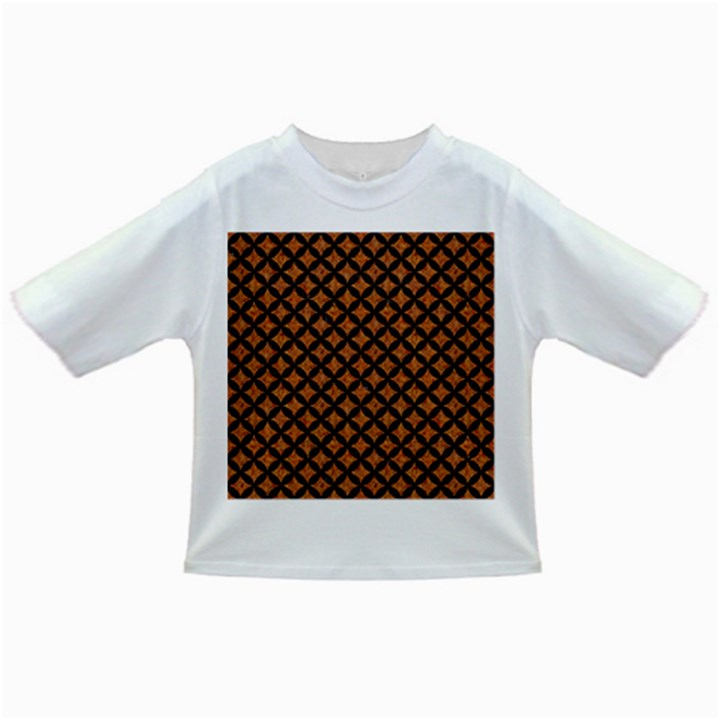 CIRCLES3 BLACK MARBLE & RUSTED METAL Infant/Toddler T-Shirts
