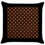 CIRCLES3 BLACK MARBLE & RUSTED METAL Throw Pillow Case (Black) Front