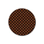 CIRCLES3 BLACK MARBLE & RUSTED METAL Rubber Coaster (Round)  Front