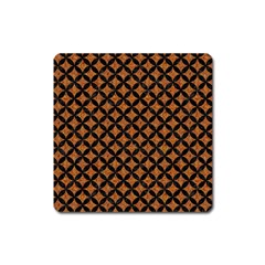 Circles3 Black Marble & Rusted Metal Square Magnet