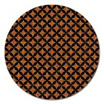 CIRCLES3 BLACK MARBLE & RUSTED METAL Magnet 5  (Round) Front