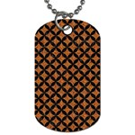 CIRCLES3 BLACK MARBLE & RUSTED METAL Dog Tag (One Side) Front