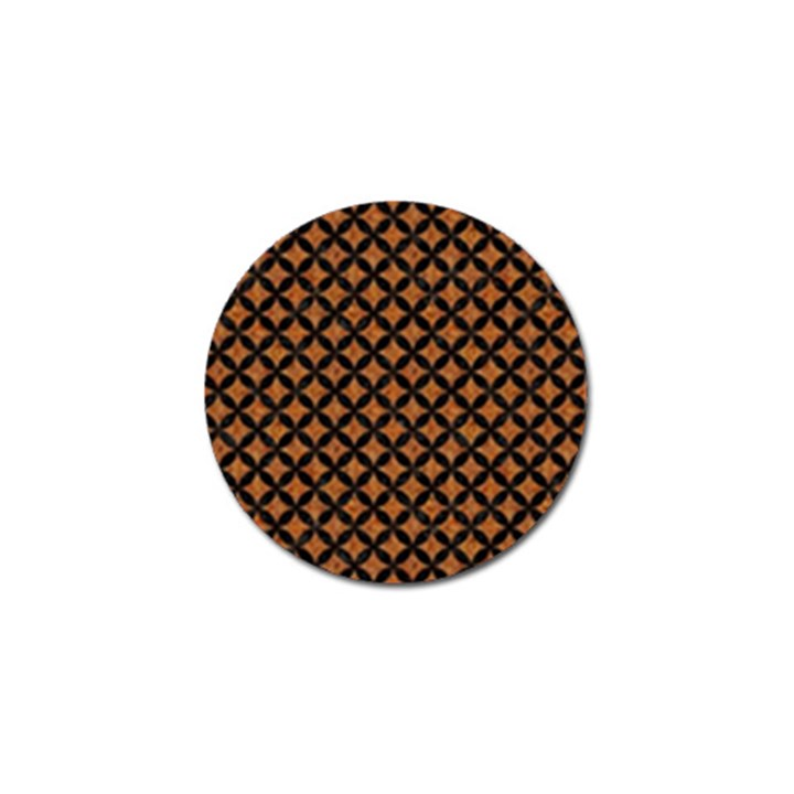 CIRCLES3 BLACK MARBLE & RUSTED METAL Golf Ball Marker