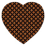 CIRCLES3 BLACK MARBLE & RUSTED METAL Jigsaw Puzzle (Heart) Front