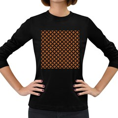 Circles3 Black Marble & Rusted Metal Women s Long Sleeve Dark T Shirts