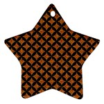 CIRCLES3 BLACK MARBLE & RUSTED METAL Star Ornament (Two Sides) Front