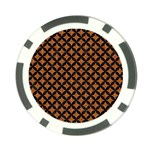 CIRCLES3 BLACK MARBLE & RUSTED METAL Poker Chip Card Guard Front