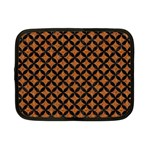 CIRCLES3 BLACK MARBLE & RUSTED METAL Netbook Case (Small)  Front