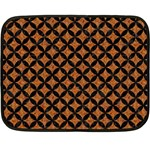 CIRCLES3 BLACK MARBLE & RUSTED METAL Double Sided Fleece Blanket (Mini)  35 x27 Blanket Front