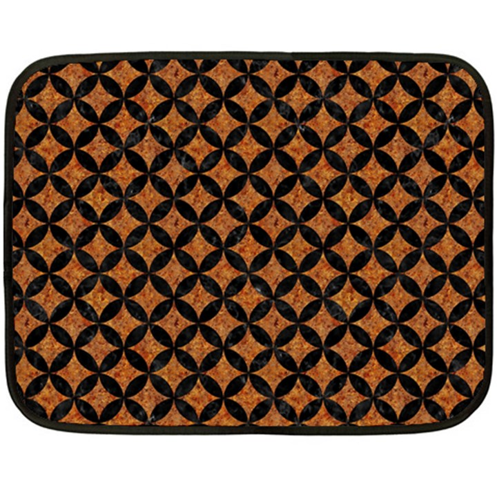 CIRCLES3 BLACK MARBLE & RUSTED METAL Double Sided Fleece Blanket (Mini)