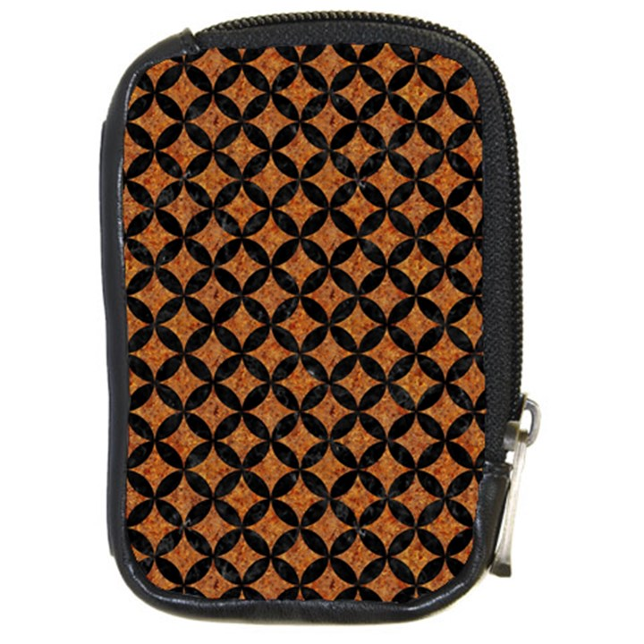 CIRCLES3 BLACK MARBLE & RUSTED METAL Compact Camera Cases