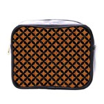 CIRCLES3 BLACK MARBLE & RUSTED METAL Mini Toiletries Bags Front