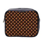 CIRCLES3 BLACK MARBLE & RUSTED METAL Mini Toiletries Bag 2-Side Front