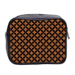 CIRCLES3 BLACK MARBLE & RUSTED METAL Mini Toiletries Bag 2-Side Back
