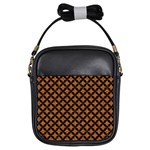 CIRCLES3 BLACK MARBLE & RUSTED METAL Girls Sling Bags Front