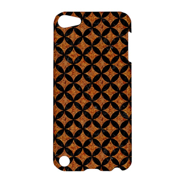 CIRCLES3 BLACK MARBLE & RUSTED METAL Apple iPod Touch 5 Hardshell Case