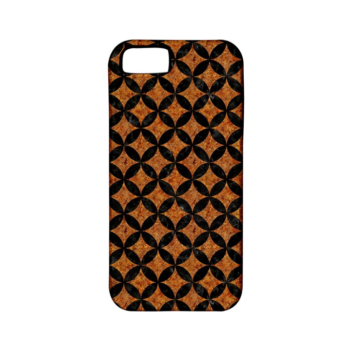 CIRCLES3 BLACK MARBLE & RUSTED METAL Apple iPhone 5 Classic Hardshell Case (PC+Silicone)