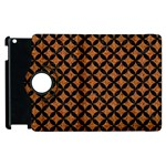 CIRCLES3 BLACK MARBLE & RUSTED METAL Apple iPad 2 Flip 360 Case Front