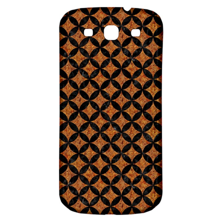 CIRCLES3 BLACK MARBLE & RUSTED METAL Samsung Galaxy S3 S III Classic Hardshell Back Case