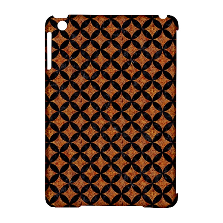 CIRCLES3 BLACK MARBLE & RUSTED METAL Apple iPad Mini Hardshell Case (Compatible with Smart Cover)