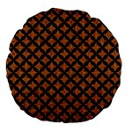 CIRCLES3 BLACK MARBLE & RUSTED METAL Large 18  Premium Round Cushions Front
