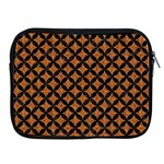 CIRCLES3 BLACK MARBLE & RUSTED METAL Apple iPad 2/3/4 Zipper Cases Front