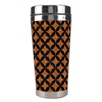 CIRCLES3 BLACK MARBLE & RUSTED METAL Stainless Steel Travel Tumblers Center