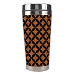 CIRCLES3 BLACK MARBLE & RUSTED METAL Stainless Steel Travel Tumblers Right