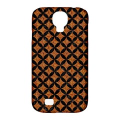 Circles3 Black Marble & Rusted Metal Samsung Galaxy S4 Classic Hardshell Case (pc+silicone)