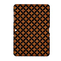 Circles3 Black Marble & Rusted Metal Samsung Galaxy Tab 2 (10 1 ) P5100 Hardshell Case