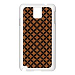 CIRCLES3 BLACK MARBLE & RUSTED METAL Samsung Galaxy Note 3 N9005 Case (White) Front