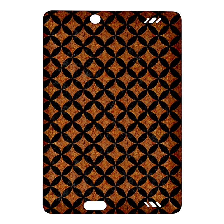 CIRCLES3 BLACK MARBLE & RUSTED METAL Amazon Kindle Fire HD (2013) Hardshell Case