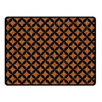 CIRCLES3 BLACK MARBLE & RUSTED METAL Double Sided Fleece Blanket (Small)  45 x34 Blanket Back