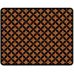 CIRCLES3 BLACK MARBLE & RUSTED METAL Double Sided Fleece Blanket (Medium)  58.8 x47.4 Blanket Front
