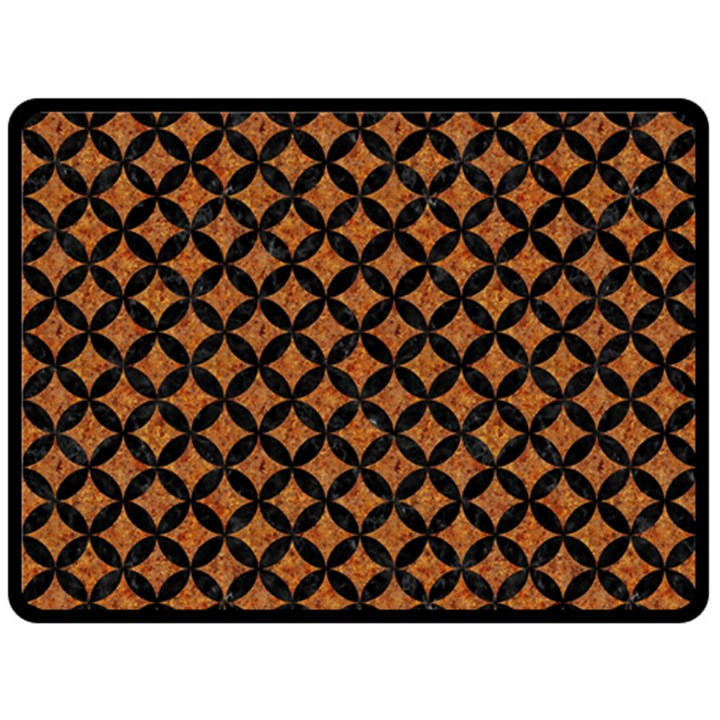 CIRCLES3 BLACK MARBLE & RUSTED METAL Double Sided Fleece Blanket (Large)