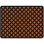 CIRCLES3 BLACK MARBLE & RUSTED METAL Double Sided Fleece Blanket (Large)  80 x60 Blanket Back