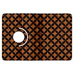 CIRCLES3 BLACK MARBLE & RUSTED METAL Kindle Fire HDX Flip 360 Case Front