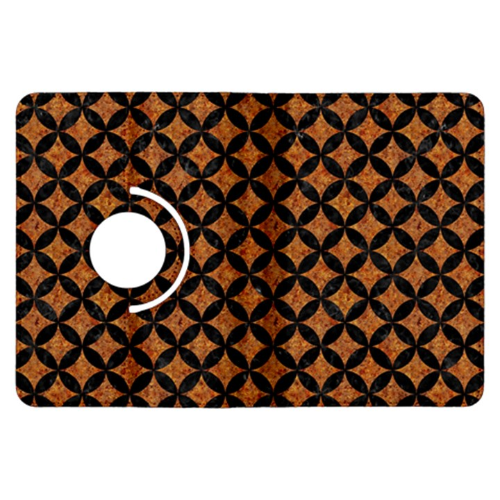 CIRCLES3 BLACK MARBLE & RUSTED METAL Kindle Fire HDX Flip 360 Case