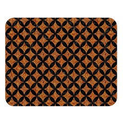 Circles3 Black Marble & Rusted Metal Double Sided Flano Blanket (large)