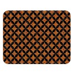 CIRCLES3 BLACK MARBLE & RUSTED METAL Double Sided Flano Blanket (Large)  80 x60 Blanket Front