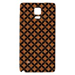 CIRCLES3 BLACK MARBLE & RUSTED METAL Galaxy Note 4 Back Case Front