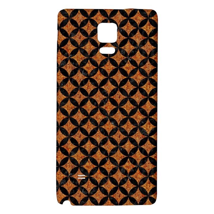 CIRCLES3 BLACK MARBLE & RUSTED METAL Galaxy Note 4 Back Case